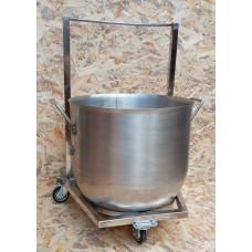 Комплект Дежа+тележка подкатная на 60 литров - AISI24