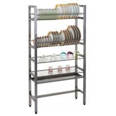 Стеллаж для сушки посуды СЖСП-М-2Т+2С (1000*290*1550 мм) - цена от